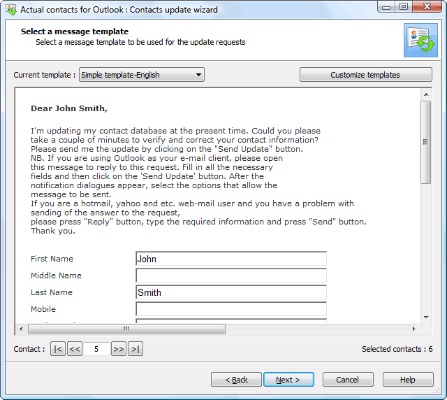 update contact information form template - outlook sunrise sync new calendar template site