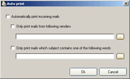 Outlook Printer: Auto print window
